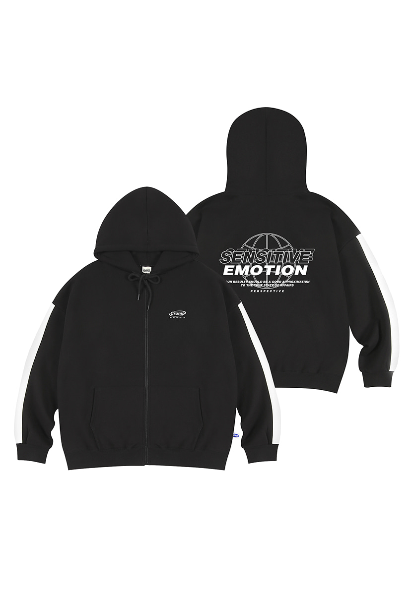 [크럼프][기모] Crump emotion line hoodie zip-up (CT0239g)