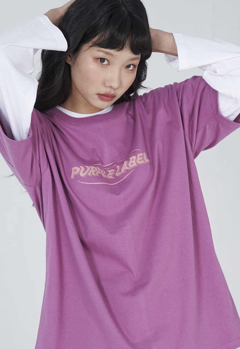 [퍼플라벨] Purple label wave logo tee (PT0004-2)